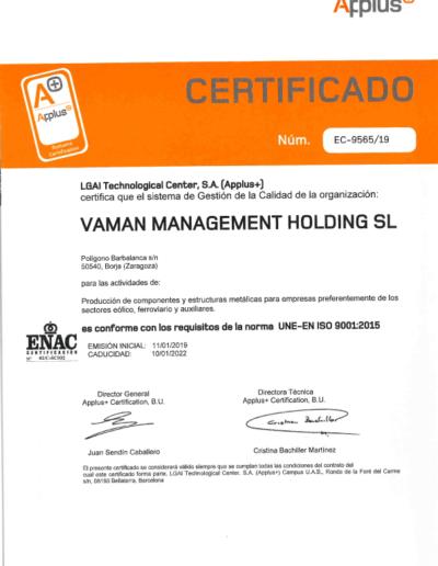 VAMAN-ISO-9001-2015-ES