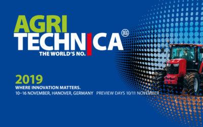 AGRITECHNICA | Hannover / Alemania 10-16 de noviembre de 2019 | Visítenos en el Stand 06 B 11