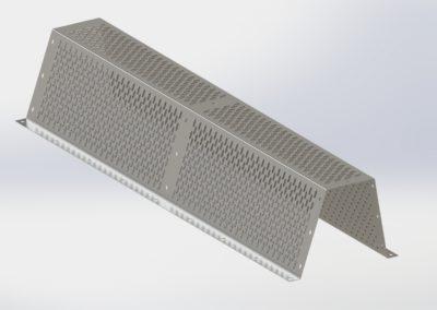 Sistema de aireación  de rejilla para silo tolva