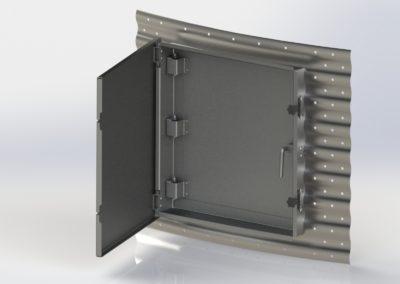 Silomasters puerta acceso de acero mate para silos metalicos