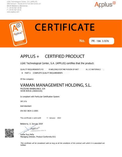 VAMAN EN ISO 3834-2-2015 EN