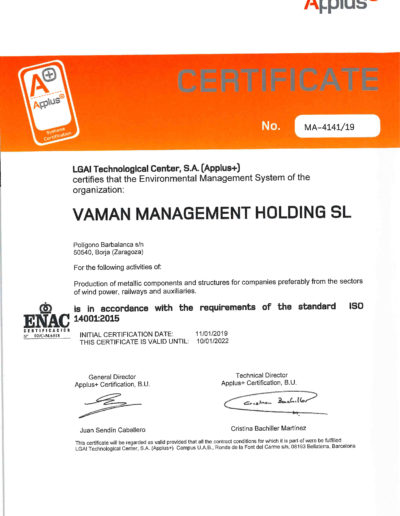 VAMAN ISO 14001-2015 EN